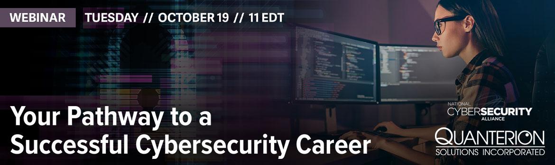 Cybersecurity Career Awareness Webinar